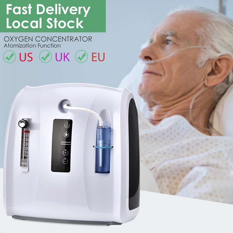 AUPORO Oxygen Concentrator Machine 1-6L/min Adjustable Portable Oxygen Machine for Home and Travel Use Without Battery