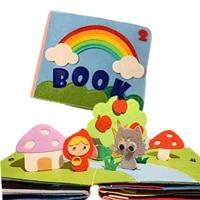 soft 3d book fabric activity for babies toddlers learning sensory book
