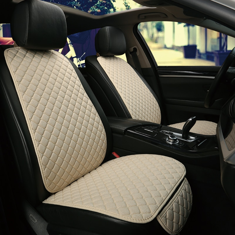 AliExpress - Flax Car Seat Cover Automobile Seat Backrest Cushion Pad Mat for Auto Front Car Styling Interior Accessories Universal Protector