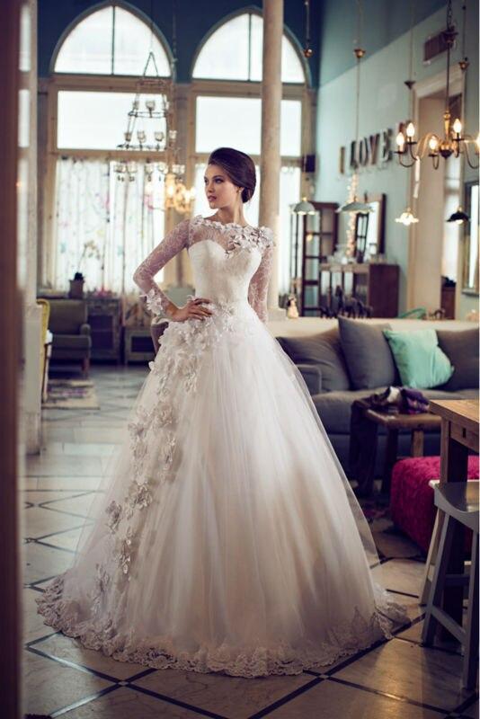 2019 Fashion robe de mariee Sexy A line Lace Sweetheart Tulle With Flowers Wedding Dress Bridal Gown Custom vestido de noiva