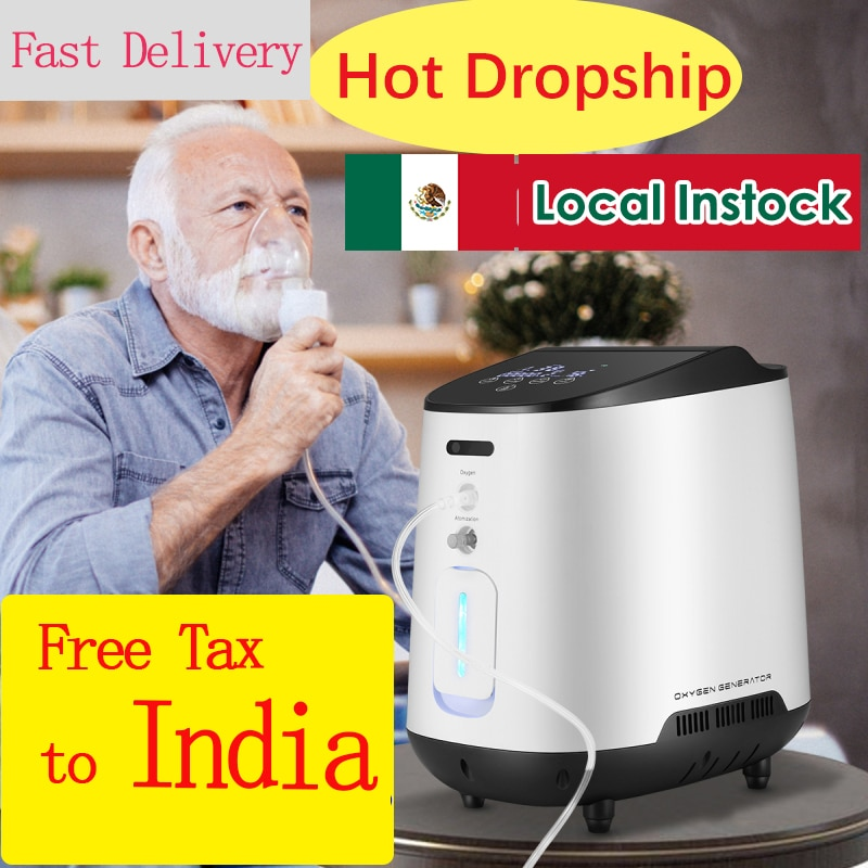 1 6l min portable oxygen concentrator home travel use generator no battery air purifier for home with handle 24 hours working AUPORO 1-7L/min Portable Oxygen Concentrator Machine Generator Oxygen Making Machine Without Battery Air Purifier AC 220V/110V