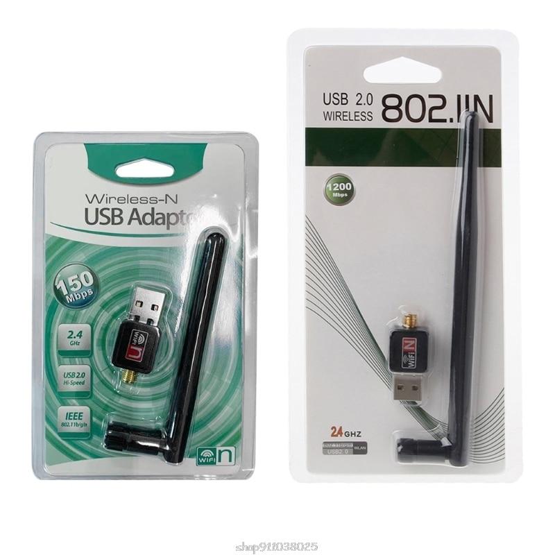 Mini Adaptador Wifi USB Antena de 150Mbps, 2dB, 5dB, tarjeta Lan de...