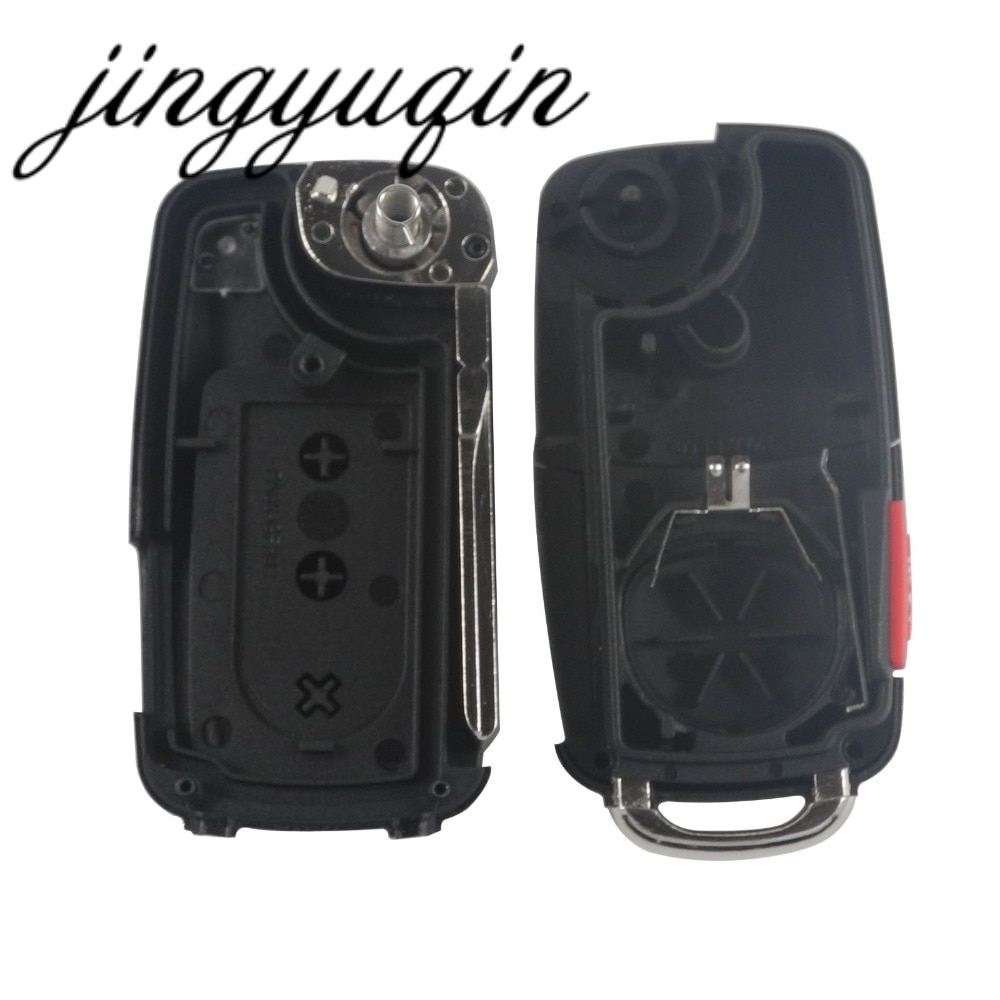 jingyuqin 2/3/4 Button Flip Folding Remote Car Key Shell Case Fob For VW polo passat b5 B6 Tiguan Golf 4 5 Seat Skoda