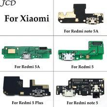 JCD Протестировано для Xiaomi Redmi 5A 5 Plus Note 5 5A Note5 зарядка через usb Нижняя плата гибкий кабель соединительные детали с микрофонный модуль
