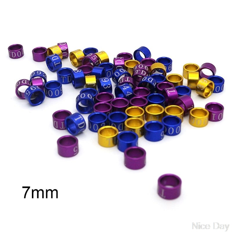 50 Uds 4mm-7mm mezcla de colores anillo para patas de aves bandas Clip en anillos para pata para paloma pollitos Ju09 20 Dropship