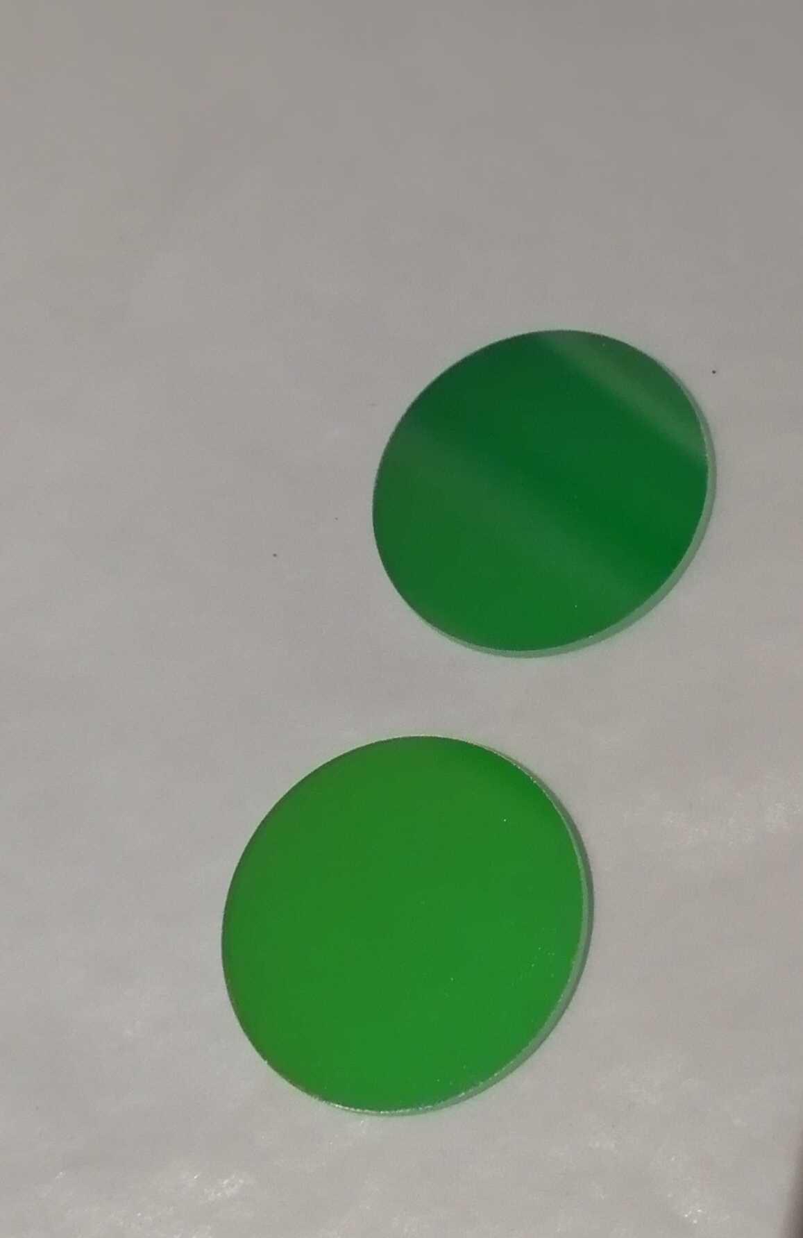 Filtre ~ filtre vert ~ filtre à bande étroite   535nm 550nm, ~ filtre à haute Transmittance, ~