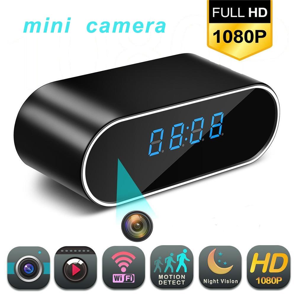 1080P Hd Klok Camera Draadloze Wifi Micro Cam Ir Night View Alarm Camcorder Digitale Klok Video Camera Mini Dvr + Verborgen Tf Card