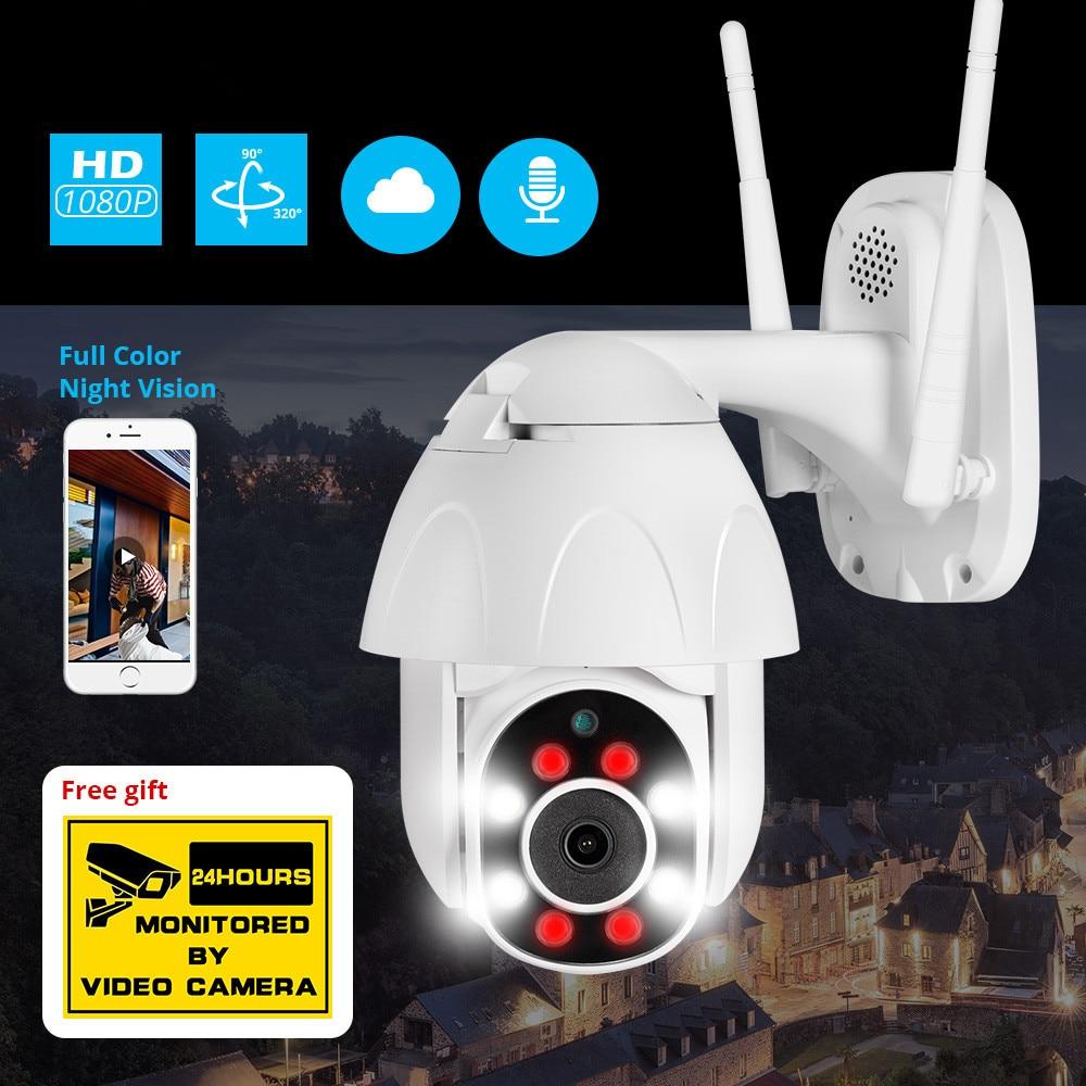 Cámara IP PTZ CCTV de 1080P para exteriores, cámara domo de seguridad, vigilancia WIFI, almacenamiento en la nube, visión nocturna, detección de movimiento