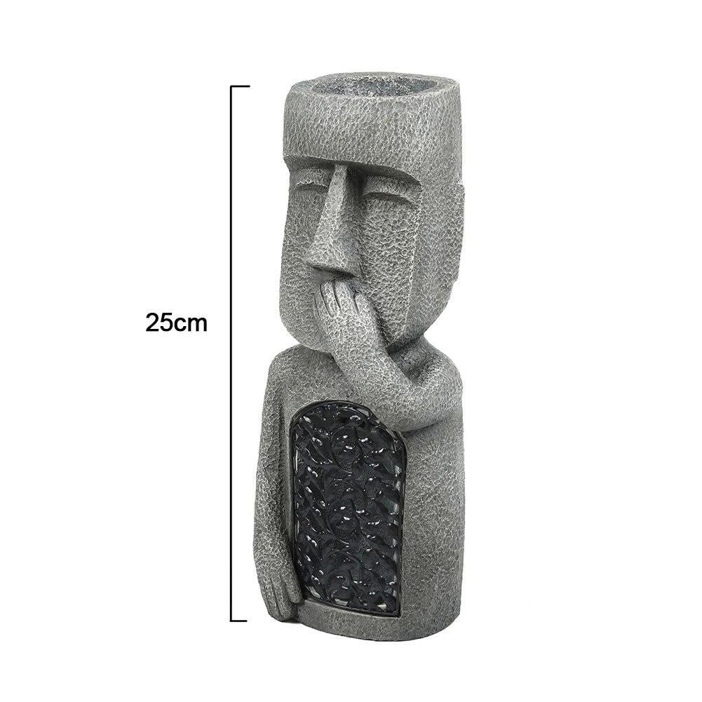 انظر سماع الكلام لا الشر حديقة جزيرة عيد الفصح التماثيل الإبداعية أشكال نماذج للحديقة من الراتنج النحت في الهواء الطلق الديكور THIN889