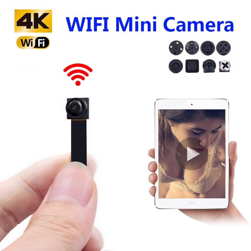 HD 4K de bricolaje portátil WiFi Mini cámara IP P2P inalámbrico Micro Cámara videocámara grabadora de Video Remoto ver escondido tarjeta TF