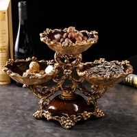 european layered dry fruit tray division living room household tea table set modern fruit tray american creative decoration deco