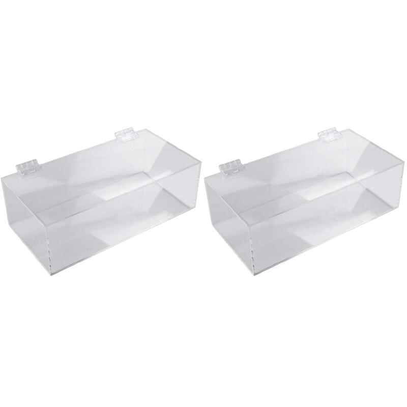 2X غير مسامية الاكريليك واضح الأنسجة صندوق قناع غير قابل لإعادة الاستخدام صندوق تخزين قفازات الغبار تنظيم صندوق