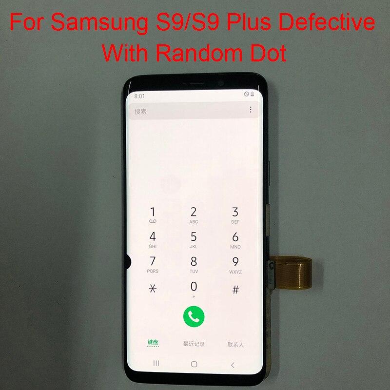 بقعة G965F شاشة لسامسونج غالاكسي S9 زائد LCD مع الإطار غالاكسي S9 SM-G960A G960F/DS G965A عرض تعمل باللمس الجمعية