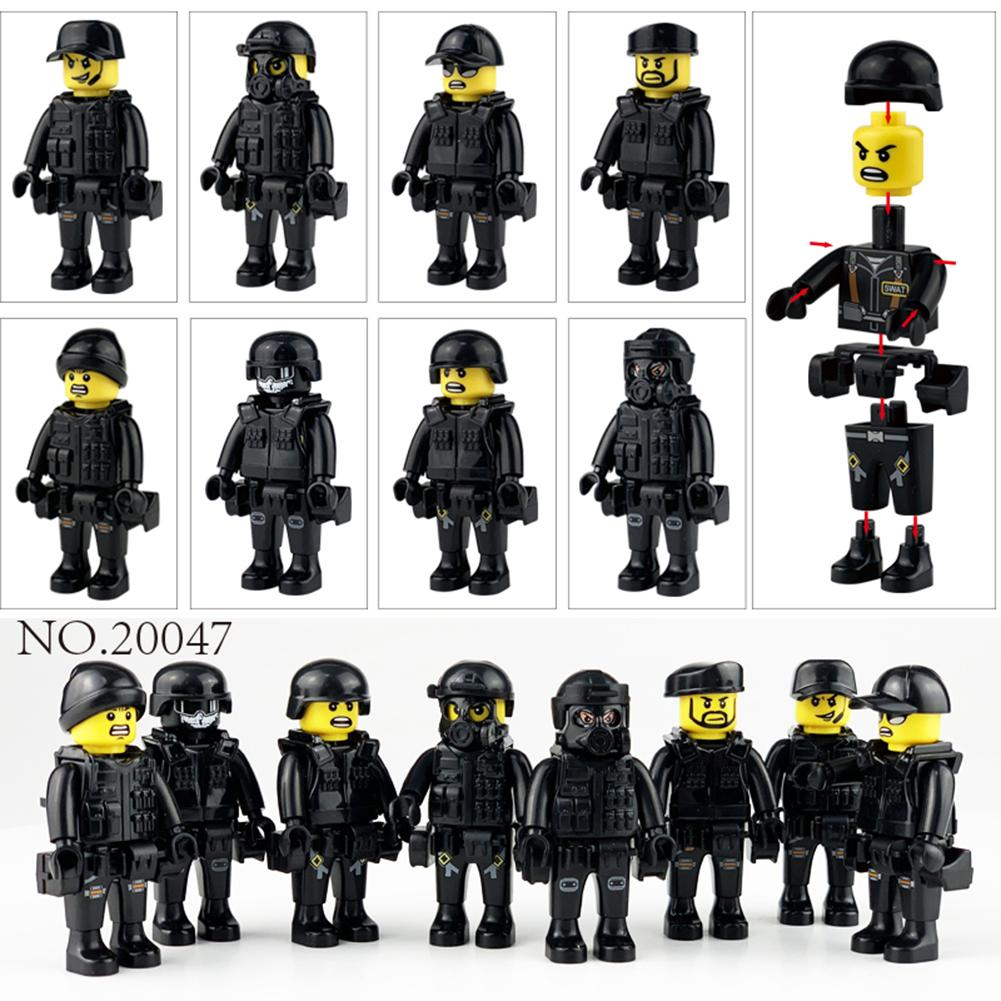 war accessories military cannon scenes guns weapons swat sandbag for land force moc building blocks toys for kid gifts legoingly 8pcs/set Military Special Forces Soldiers Bricks Figures Guns Weapons Compatible Legoings Armed SWAT Building Blocks Kids Toys