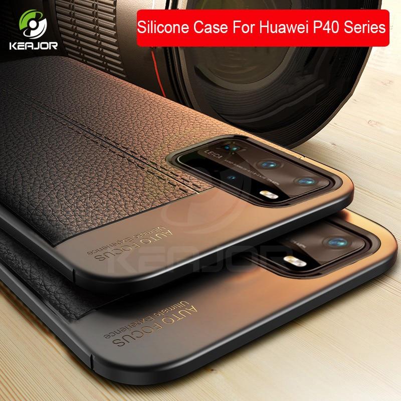 Capa para huawei p40 pro plus, capa de tpu de silicone macio à prova de choque, capa traseira para huawei p40 p 40 pro plus + 2020 funda