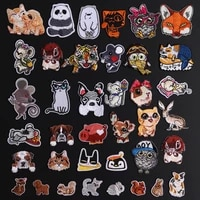 mouse owl cat embroidery patch heat transfers dog iron on sew on patches for clothing diy clothes stickers decor appliques