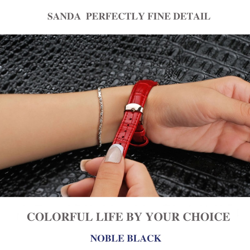 SUNKTA Fashion Women Watches Ladies Top Brand Luxury Leather Calendar Elegant Quartz Watch Women Waterproof Bracelet Watch Girls enlarge