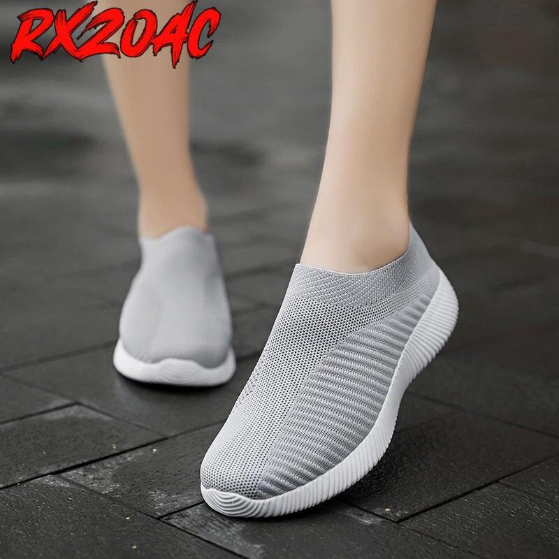 Zapatillas de deporte de talla grande para mujer, calzado bajo para correr,...