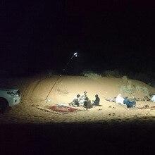 Projecteur Portable 12V LED en plein air camping lanterne tente lumière projecteur 5m canne à pêche maison COB lampe de secours