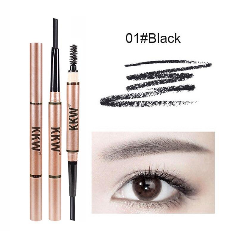 2 em 1 sobrancelha lápis + sobrancelha escova maquiagem olho sobrancelha enhancer caneta de longa duração cosméticos sobrancelhas pó vara compõem sobrancelha tatuagem
