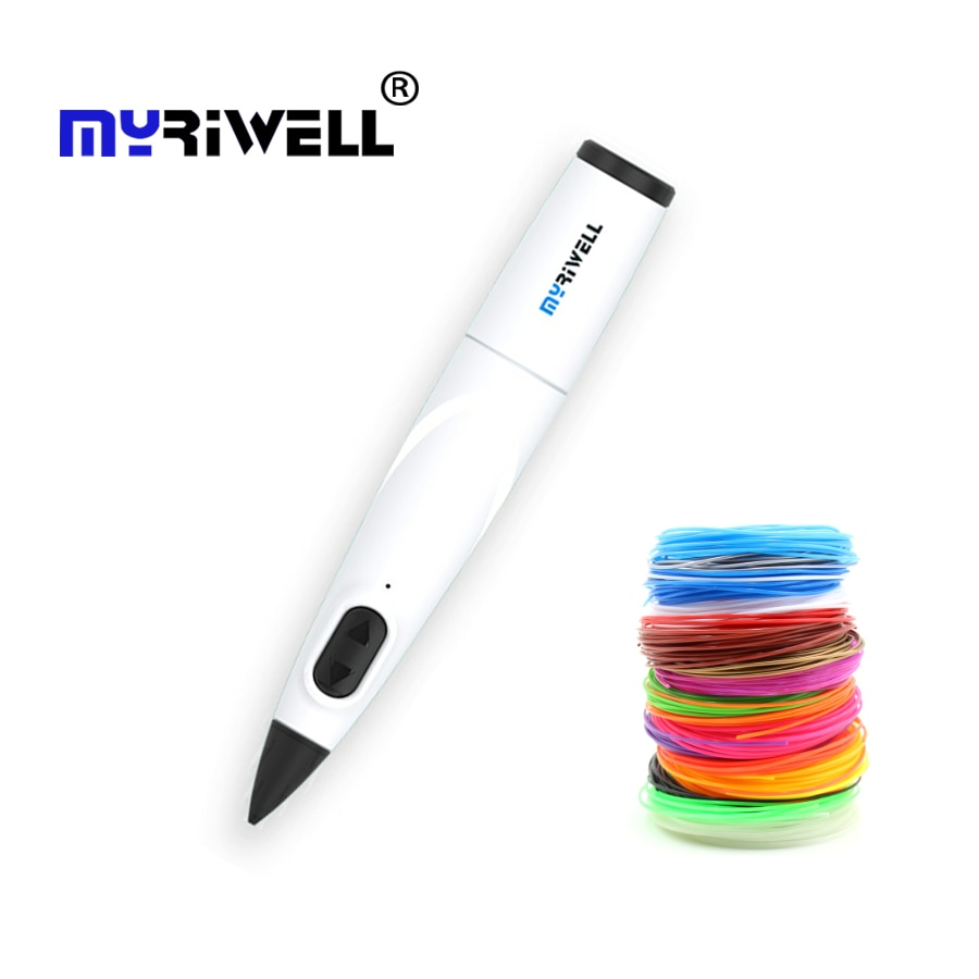 Myriwell 3D Pen Professional Printing with 10 Colors PCL Filament Creative Toy Gift For Kids Drawing DIY Printer