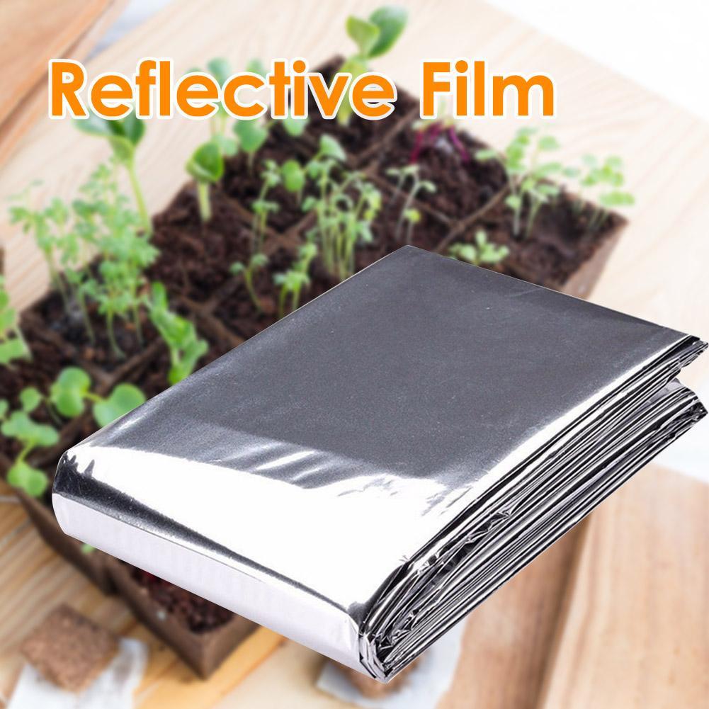 1pcs colorful foil plants 210x120cm Reflective Film Plants Garden Greenhouse Covering Foil Sheets Polyethylene Terephthalate