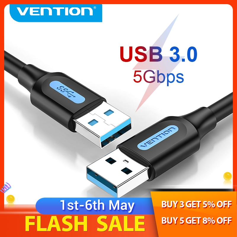 Vention USB to USB Extension Cable Male to Male 3.0 2.0 USB Extender Cord for Hard Drive TV Box Lapt