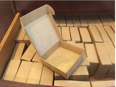 Venta al por mayor 50 Uds marrón Natural Embalaje de papel caja...