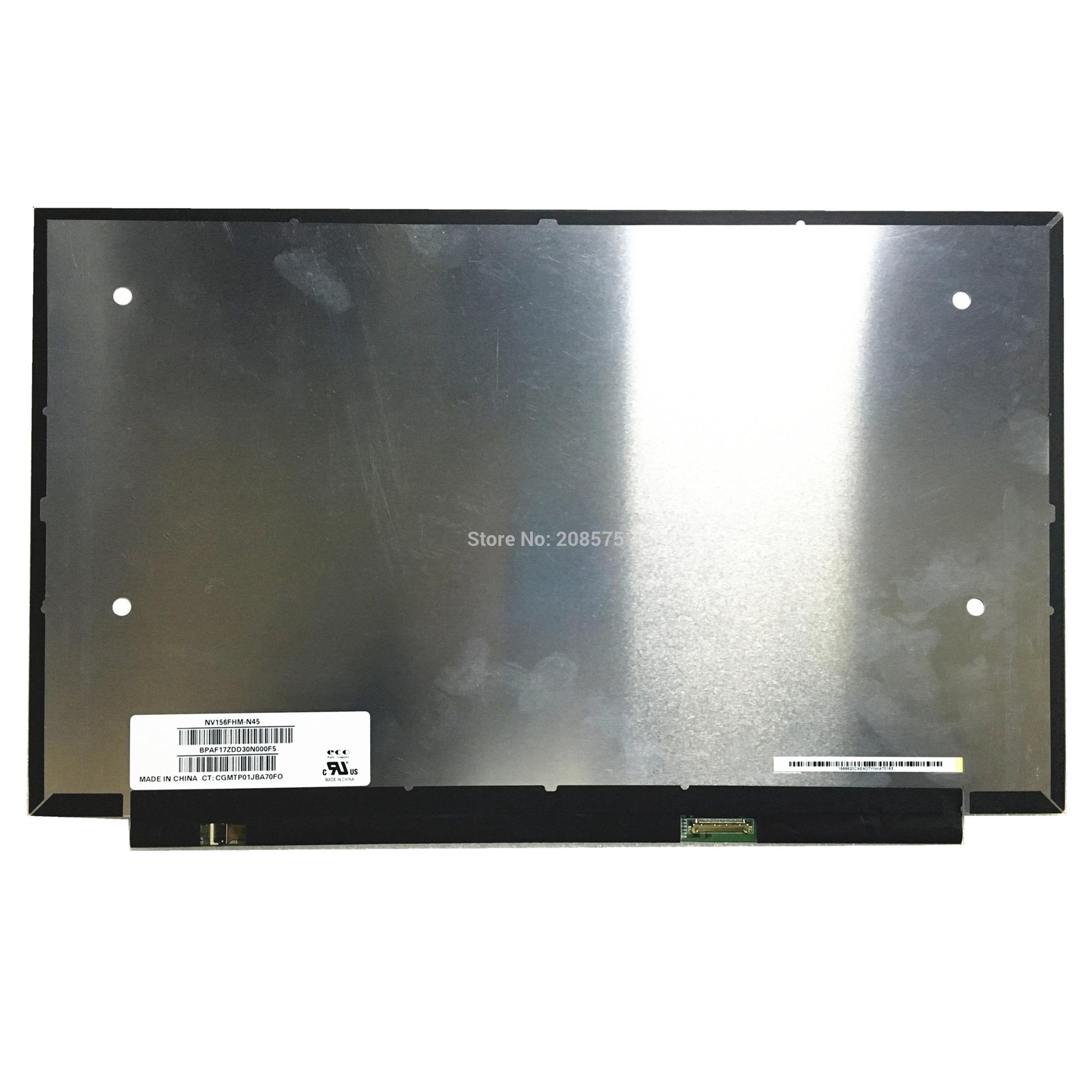 شحن مجاني NV156FHM-N45 NV156FHM N45 صالح LP156WF9-SPM1 SPM9 SPL1 15.6 'FHD IPS Lcd شاشة Led 1920*1080 EDP 30 دبابيس
