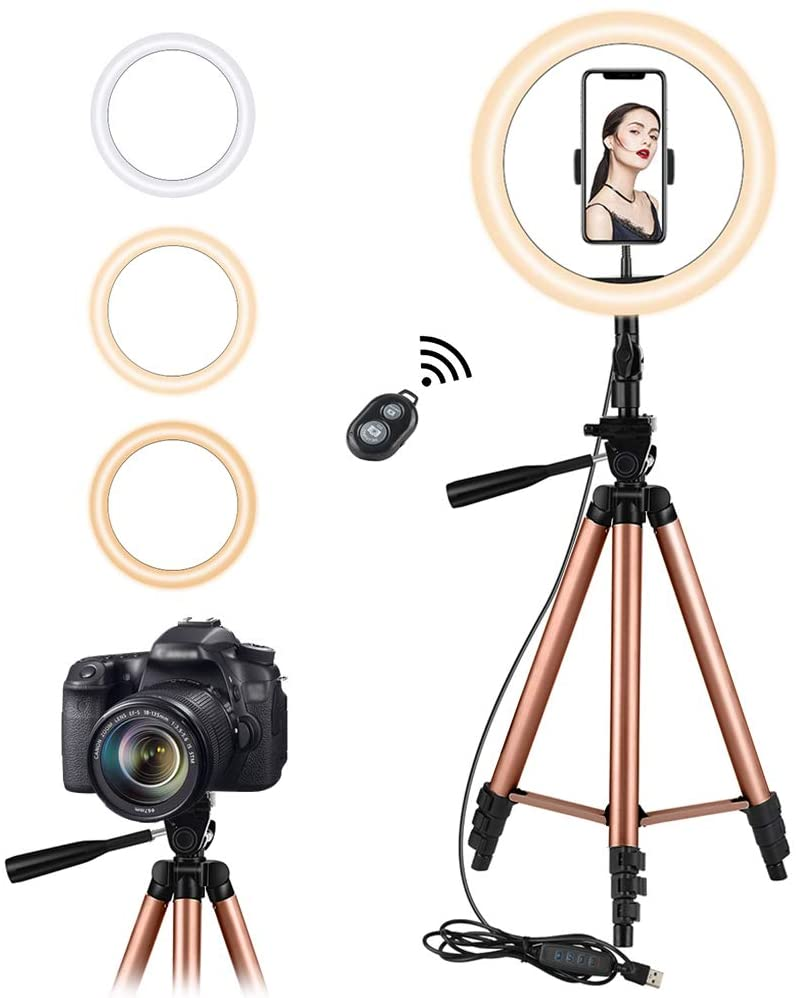 Photography Bluetooth Led Ring Light selfie Ringlight Tripod Video Studio Light Ring Lamp With Tripod for photo Youtube tik tok