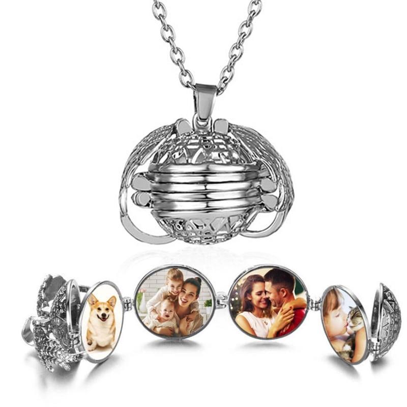 VKME moda multi-capa foto colgante collar de estilo europeo y americano regalos