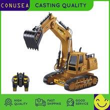 1/18 RC camión RC excavadora 2,4G Radio controlado coche oruga Tractor modelo ingeniería coche excavación tierra sonido juguetes para niños