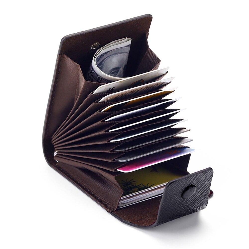 Модные деловые кожаные кошельки унисекс на новый год 2021, чехол для удостоверения личности, кредитных карт, визитных карточек, карманный орг...