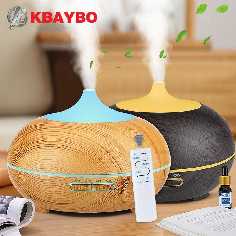 Kbaybo 550ml umidificador de ar, usb, difusor de aroma com controle remoto, led mutável com 7 cores, purificador de ar para trazer frescor para casa