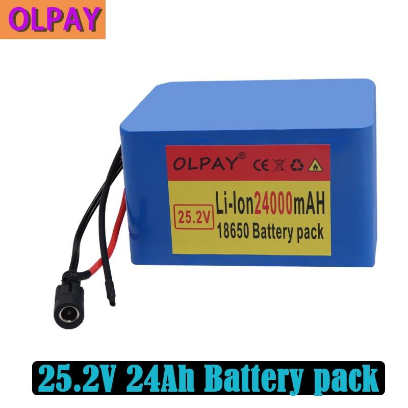 Neue 6S5P 24V 24Ah 25,2 V lithium-batterie pack batterien für elektrische motor fahrrad ebike roller rollstuhl abschneider mit BMS