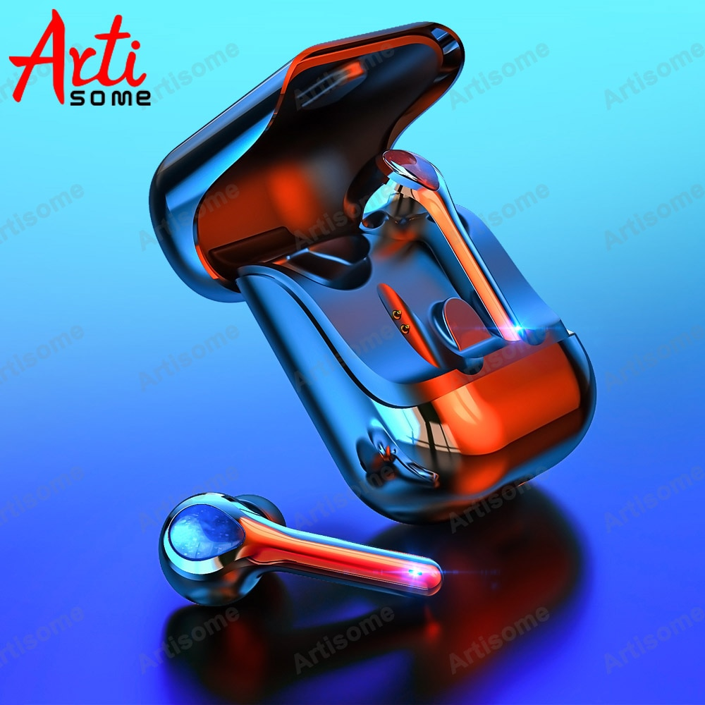 Auriculares inalámbricos Bluetooth 5,0 TWS estéreo, Auriculares deportivos resistentes al agua, auriculares inalámbricos con Control táctil con micrófono para teléfonos
