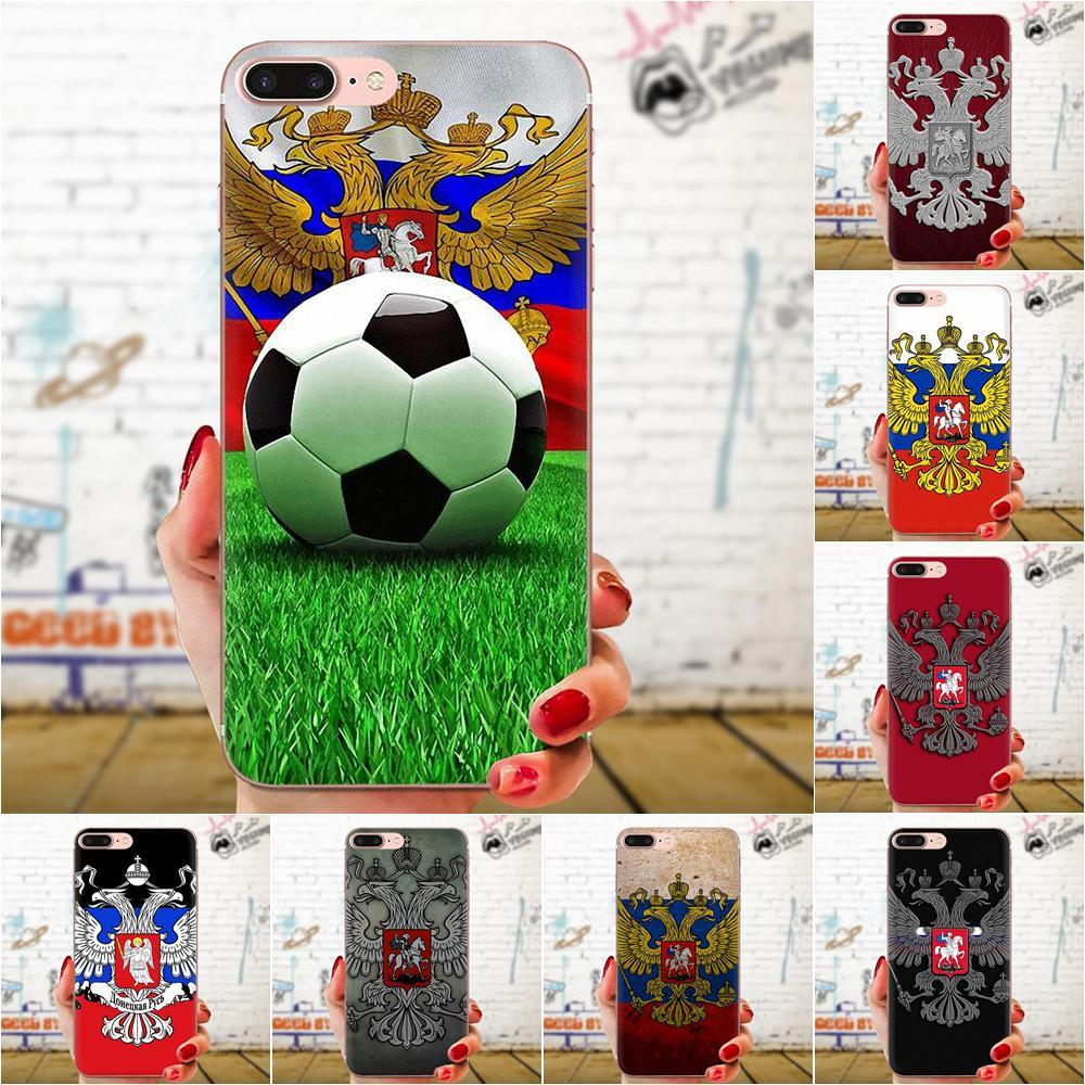 TPU Skin Painting For Sony Xperia Z Z1 Z2 Z3 Z4 Z5 compact Mini M2 M4 M5 T3 E3 E5 XA XA1 XZ Premium Russian Flag Eagle