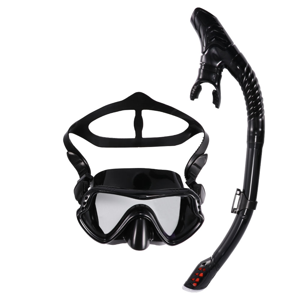 Scuba Diving Mask Silicone Mask Snorkel Anti-Shock Diving Mask Snorkel Full Dry Tube Underwater Swim Equipment deepgear nearsighted diving mask for adult clear pc myopia lens scuba mask short sighted divers scuba mask top snorkel gears