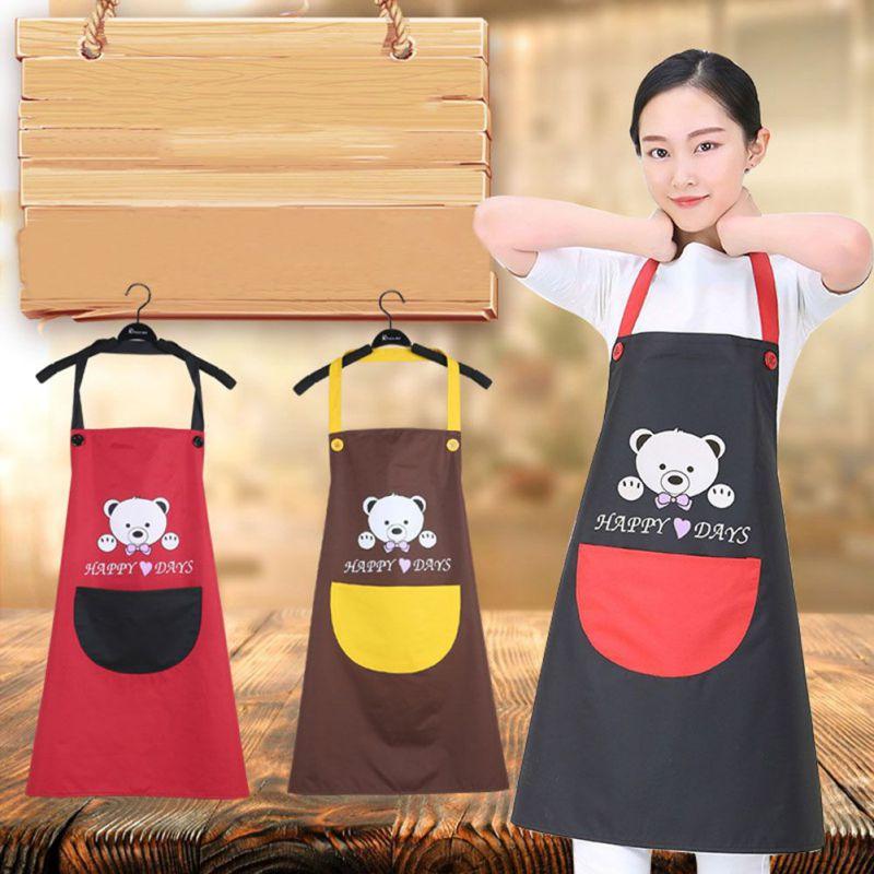 Delantal impermeable, resistente al aceite, transpirable oso cocina delantal impermeable