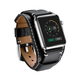 Luxury Real Leather Bracelet Belt For Apple Watch Band 38mm 40mm 42mm 44mm Genuine Leather iWatch Series 2 3 4 5 Strap Wristband