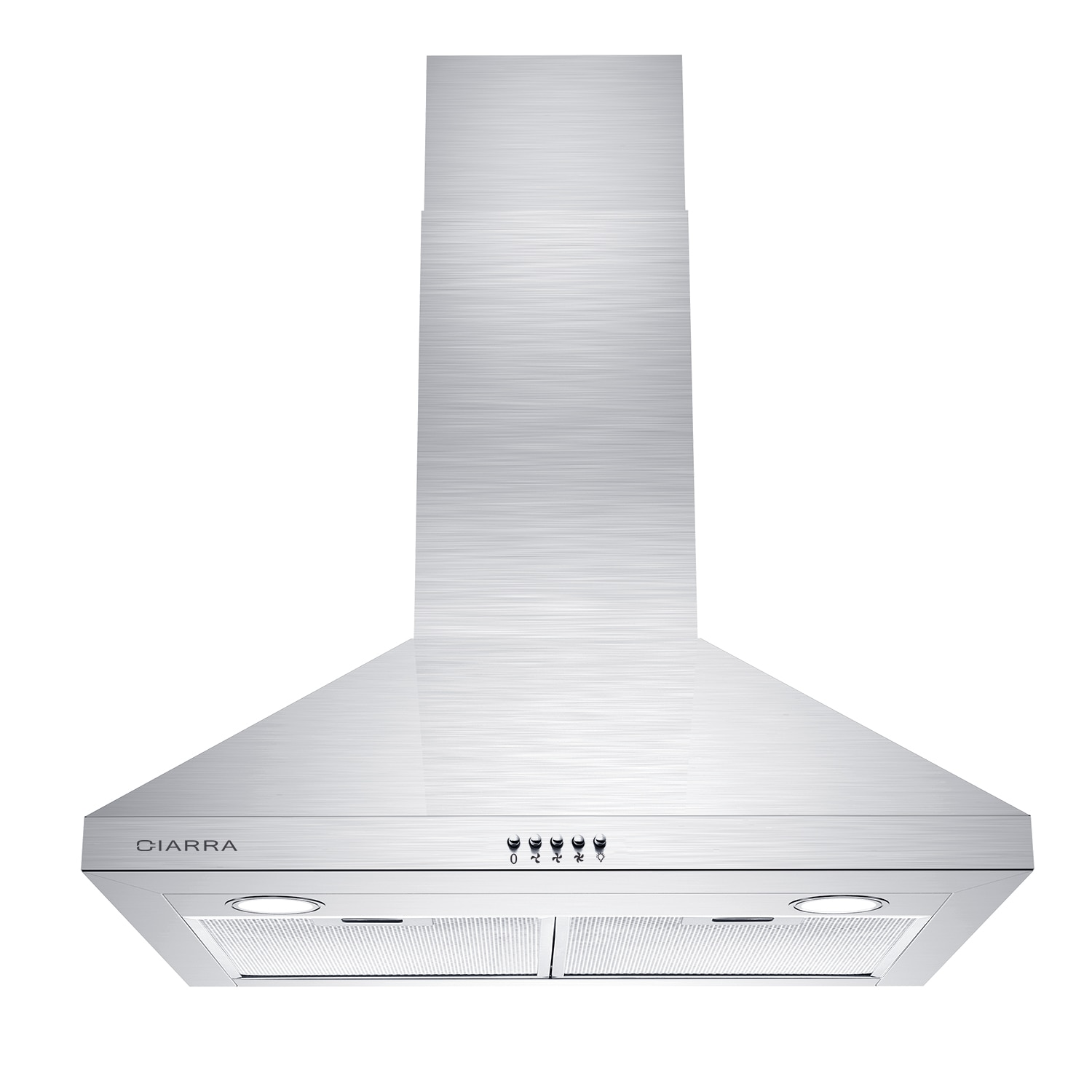 CIARRA CAS75206P 30 inch Range Hood, Wall Mounted Stove Vent, Stainless Steel Kitchen Extractor Hood with Led Lights, 450CFM