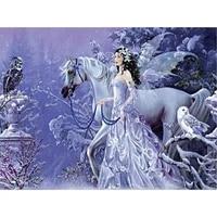 diamond embroidery animals diy diamond painting horse fairy full drill squareround home decor picture of rhinestone hobby gift