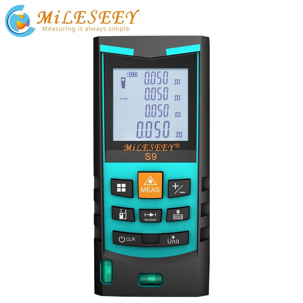 Mileseey laser rangefinder 50m digital laser medidor de distância laser range finder fita distância ferramenta de medição