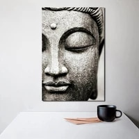 lord buddha statue abstract wall art painting decorative picture modern living room office home decoration accessories framework