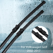 Lâmina dos limpadores para volkswagen golf mk4/mk5/mk6/mk7 2002 2003 2004 2005-2017 acessórios do carro para o limpador de borracha do pára-brisas do automóvel
