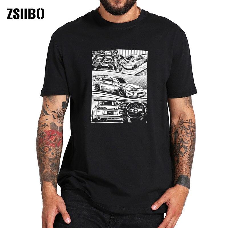 Потрясающая Спортивная футболка с изображением автомобиля Camiseta Best Супра 2JZ JDM Футболка модная Harajuku футболка скоростная Легенда размера плюс футболка с изображением автомобиля