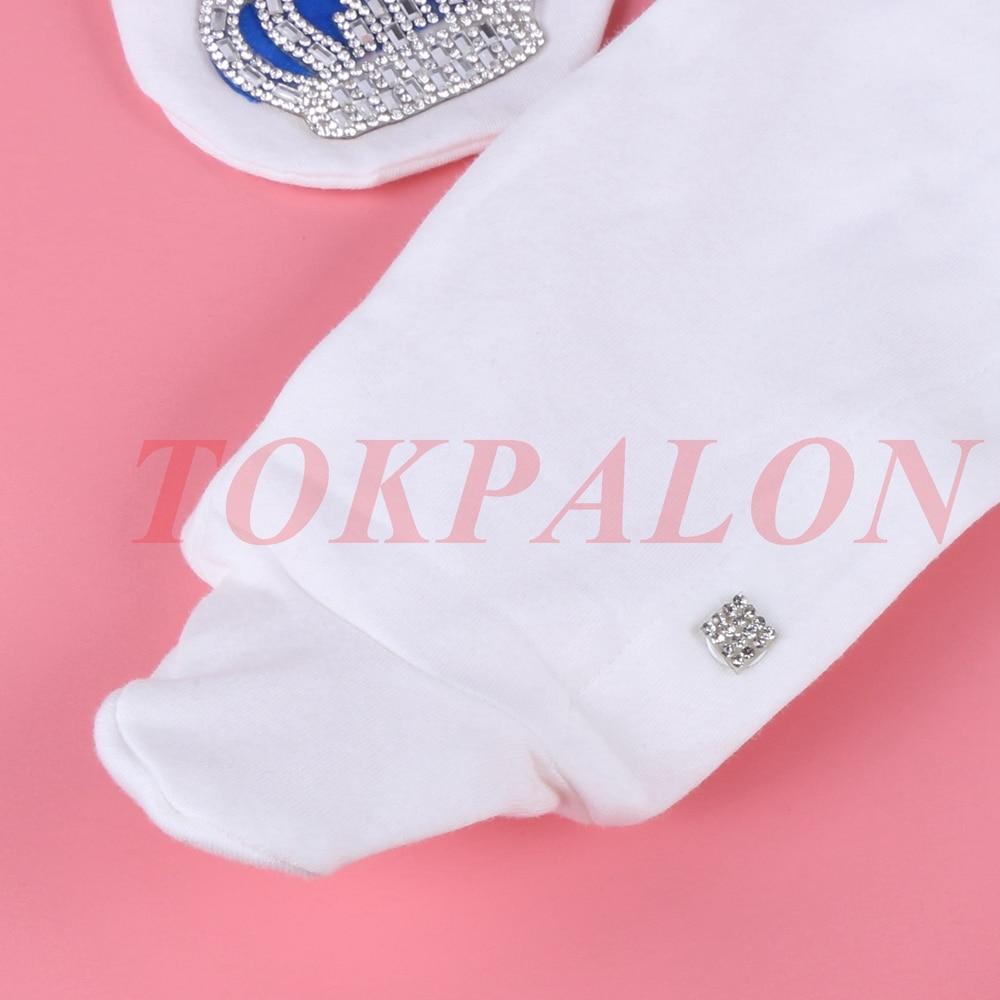 Купить с кэшбэком Baby Body 0-3 Month Newborn Baby Boys Girls Rhinestone Crown Cotton Bodysuit Infant Baby Jumpsuit Thin Pajamas Outfit Princ 2020