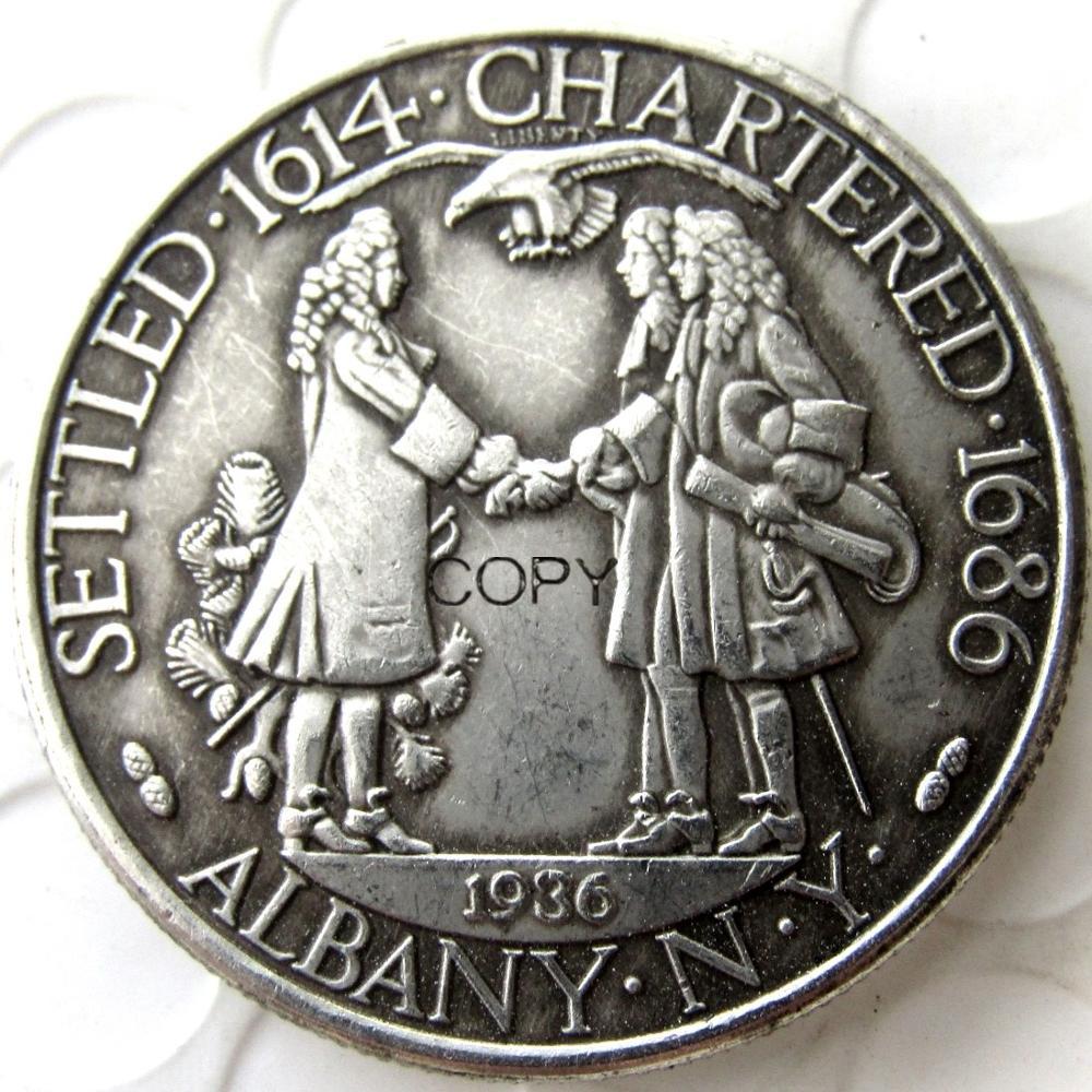 USA 1936 Albany Commemorative Half Dollar Silver Plated Copy Coin