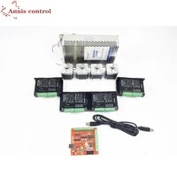 cnc router kit 4 axis 4pcs tb6600 4 0a stepper motor driver 4pcs nema17 0 44nm motor mach3 usb stepper motor power supply