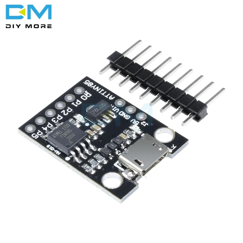 ATtiny85 Digispark Kickstarter Micro USB макетная плата модуль для Arduino ATtiny IIC IEC TWI SPI микроконтроллер низкой мощности